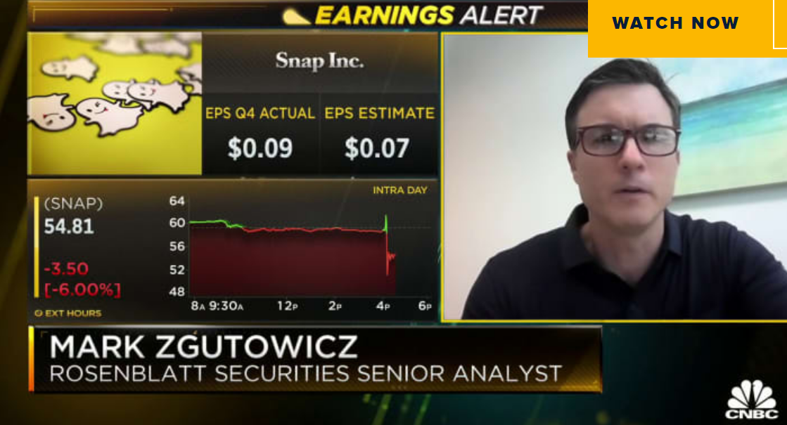 Rosenblatt analyst on why Snap shares are down after earnings