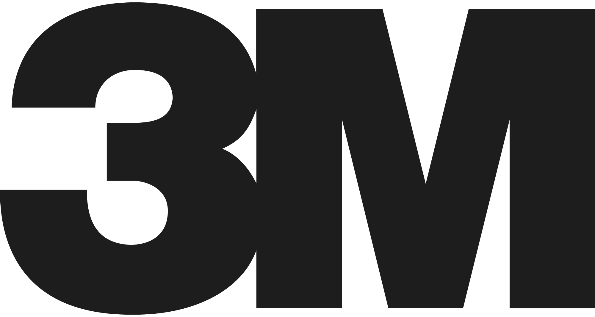 3M logo in black