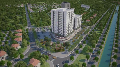 Toàn cảnh dự án chung cư Hanhomes Giang Biên.