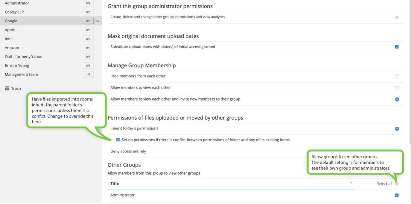 additional VDR permissions