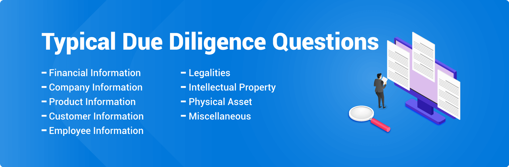 Typical due diligence questions