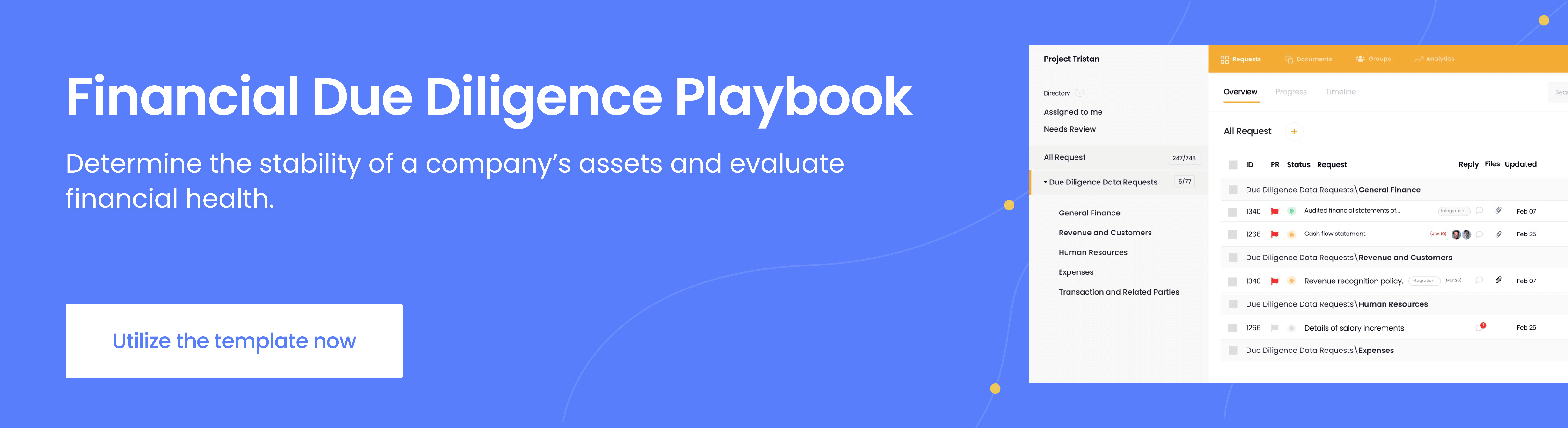 financial due diligence template