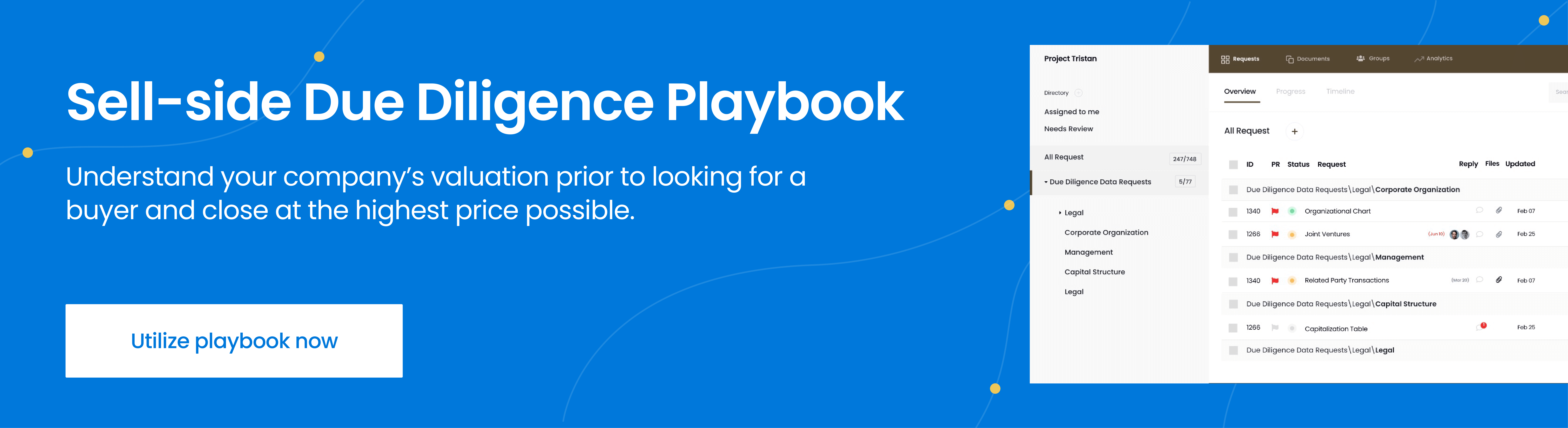 sell-side due diligence playbook