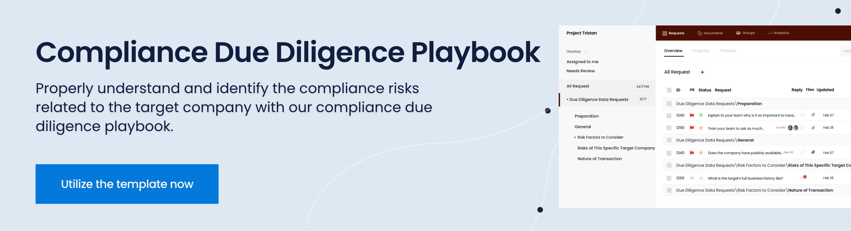 regulatory due diligence checklist