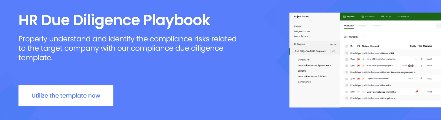 hr due diligence playbook