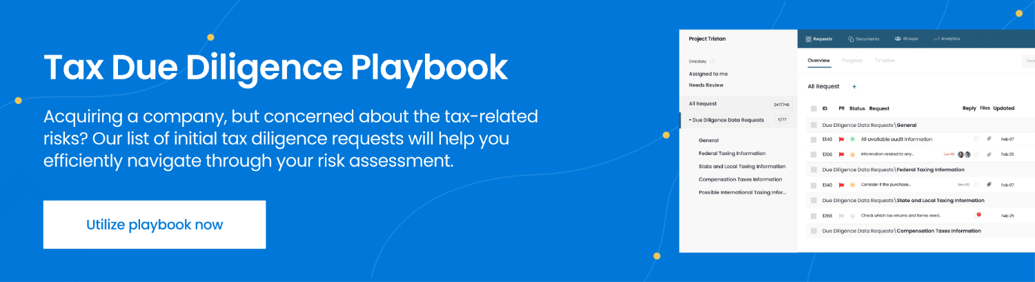 tax due diligence playbook