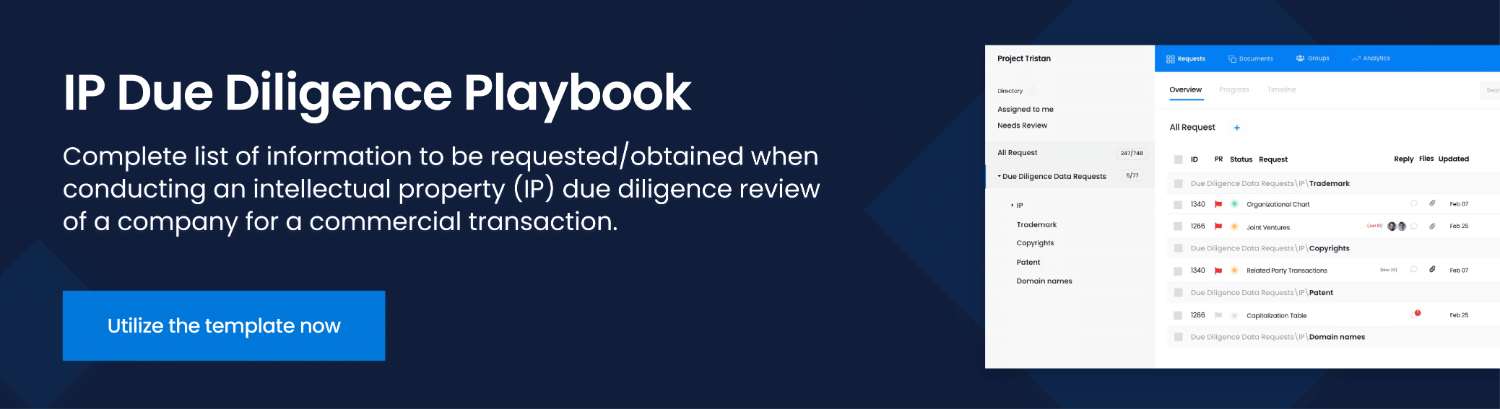 ip due diligence playbook