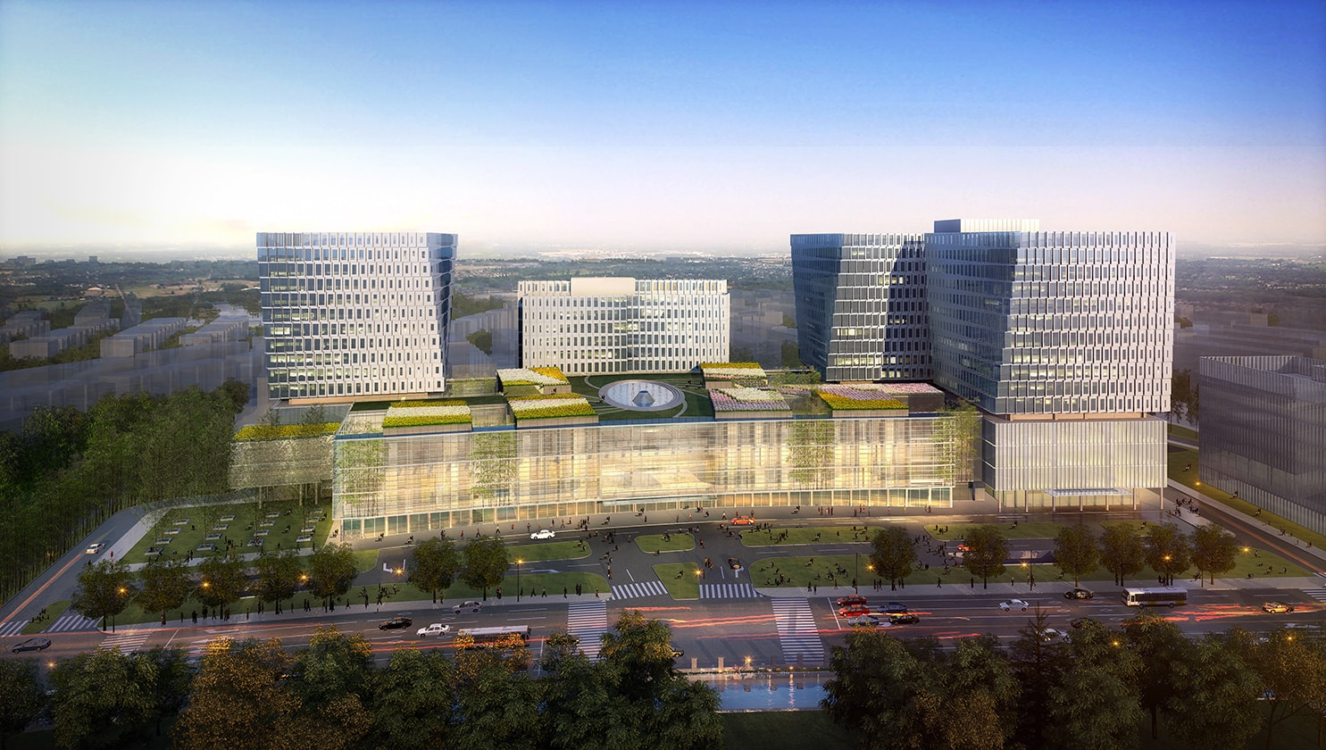 Xuhui Southern Medical Center by Quezada Architecture (Fred Quezada, Cecilia Quezada, Ed Tingley)