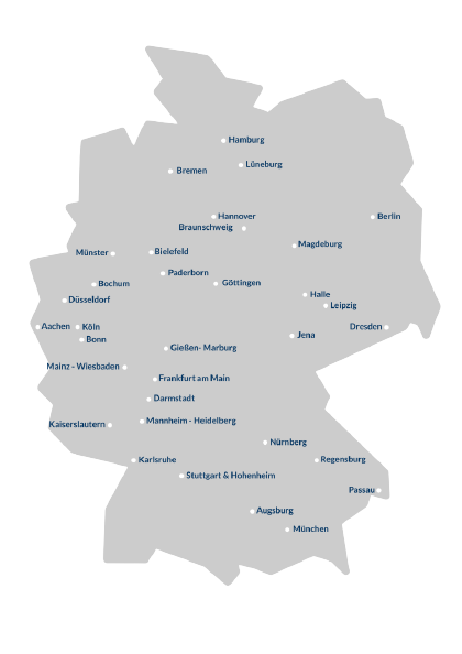 Germany map with AIESEC committees