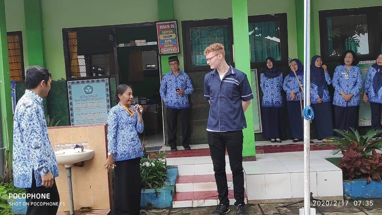 David an der öffentlichen Schule
