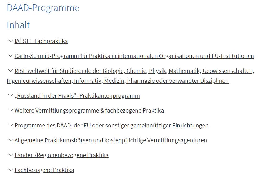 DAAD-Programme