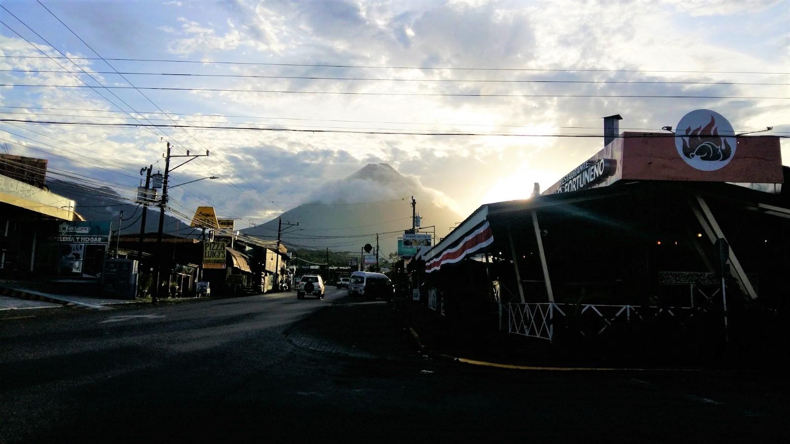 Ausblick auf den Vulkan