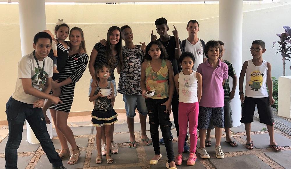 Janne war im Projekt nicht allein:weitere Freiwillige aus verschiedenen Ländern haben Janne unterstützt - jetzt hat sie Freunde auf der ganzen Welt!