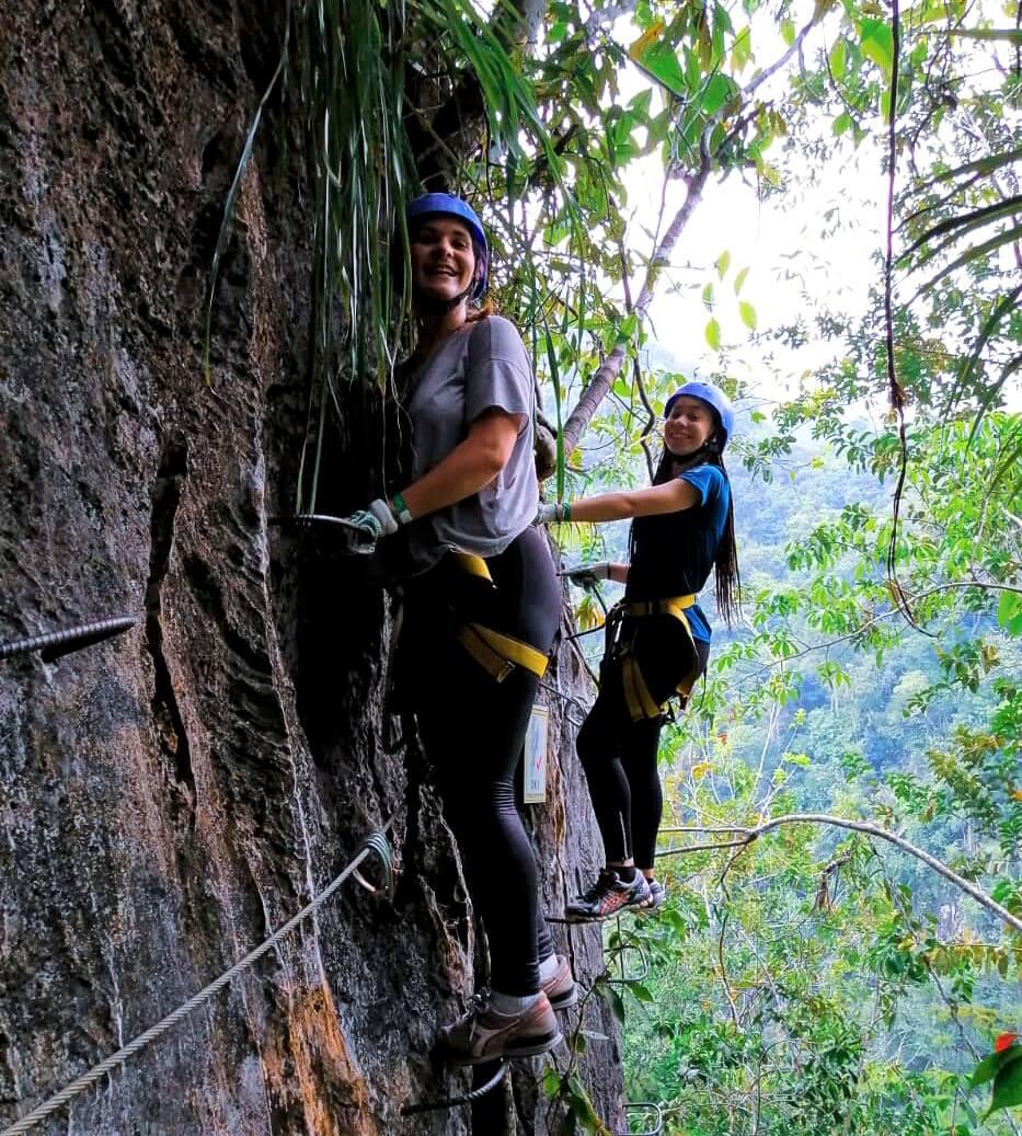 Ann-Cathrin beim Klettern