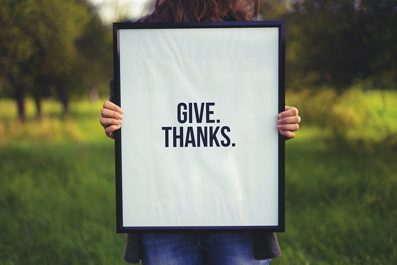 Sei dankbar