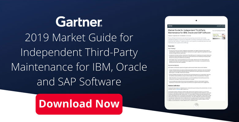 Download Gartner 2019 Market Guide For Independent Third-Party Maintenance for IBM, Oracle and SAP Software