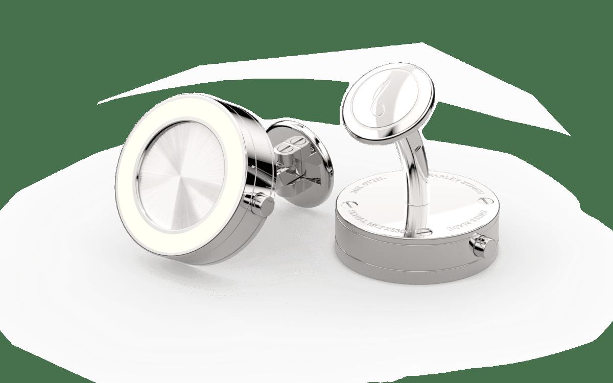 Steel 316L & Superluminova Top Line Bezel Watchlinks with Steel Sunburst Inlay