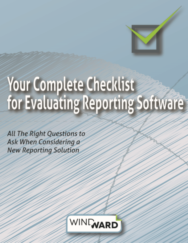 Reporting Software Evaluation Checklist