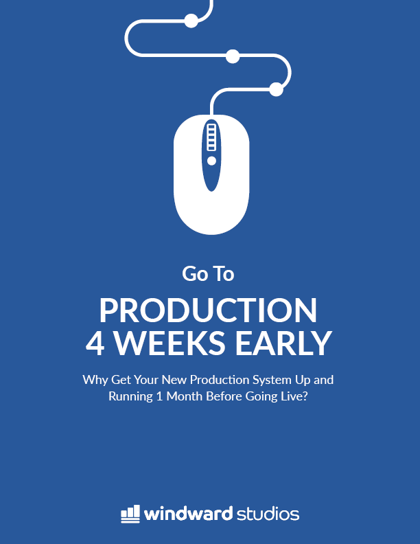 Go To Production 4 Weeks Early