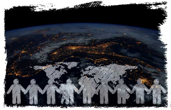People world together