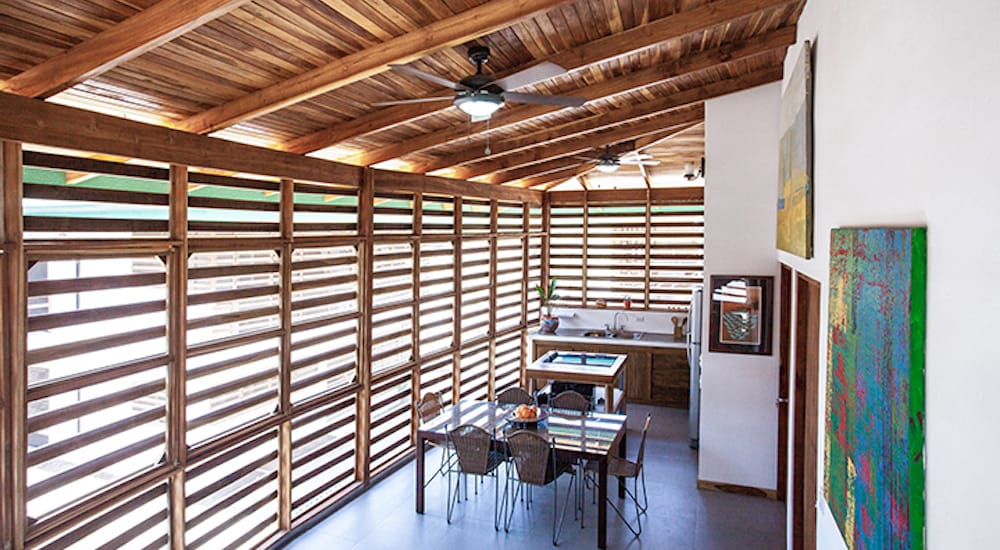 The property is made up of beautifully designed bungalows around a community pool. Each bungalow has private bedrooms with en suite bathrooms and a private kitchen. Outsite Costa Rica is a dynamic hub for work and play, fully equipped with a workspace and access to outdoor activities like surfing, hiking, quad biking and exploring nature trails. You'll be trading your office for a tropical backdrop, surfing waves and yoga studios in this beautiful area of Costa Rica.