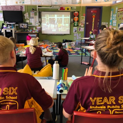 Mulwala Public School students doing the lesson