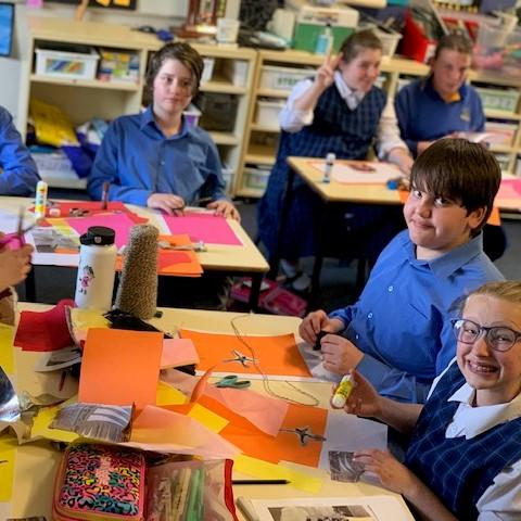 Tamworth Public School students doing the lesson