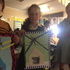 Tamworth South Public School artworks from the lesson