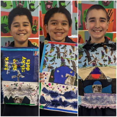 Wattle Flat Public School artworks from the lesson