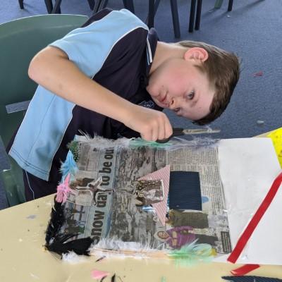 Wattle Flat Public School students doing the lesson