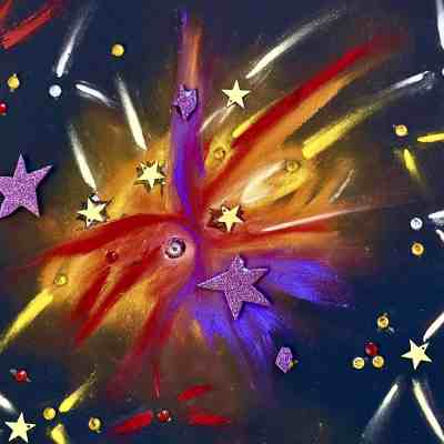 #CAPAexplosion artwork from Tarrawanna Public School student