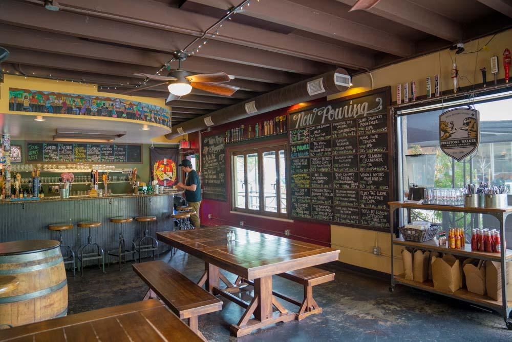 Interior of Pangaea Bier Cafe in Sacramento CA