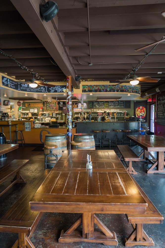 Inside of Pangaea Bier Cafe in Sacramento, CA