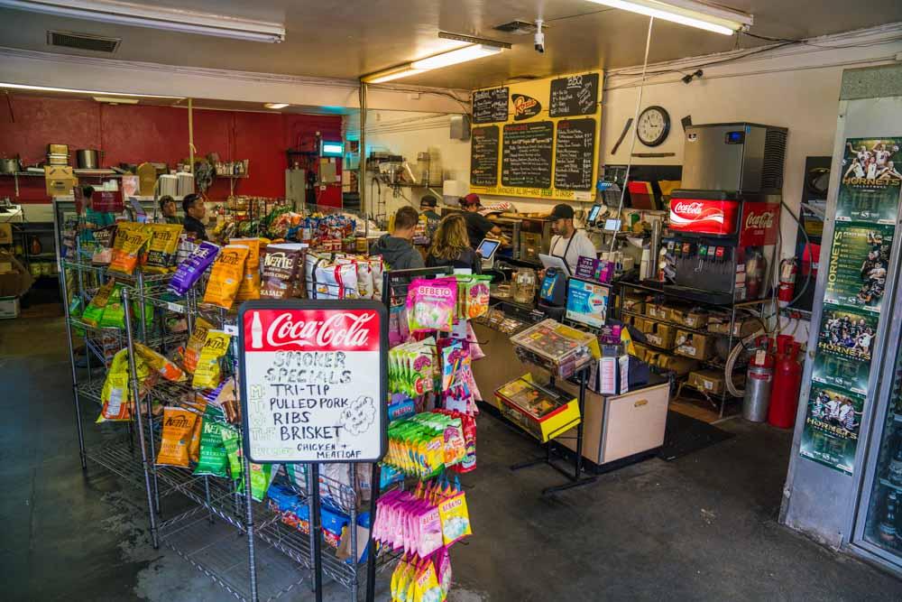 Interior of Roxie Deli and Barbecue in Sacramento, CA