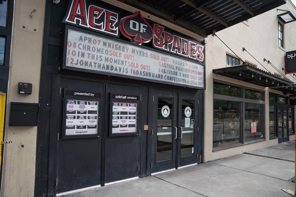 Exterior of Ace of Spade in Sacramento, CA
