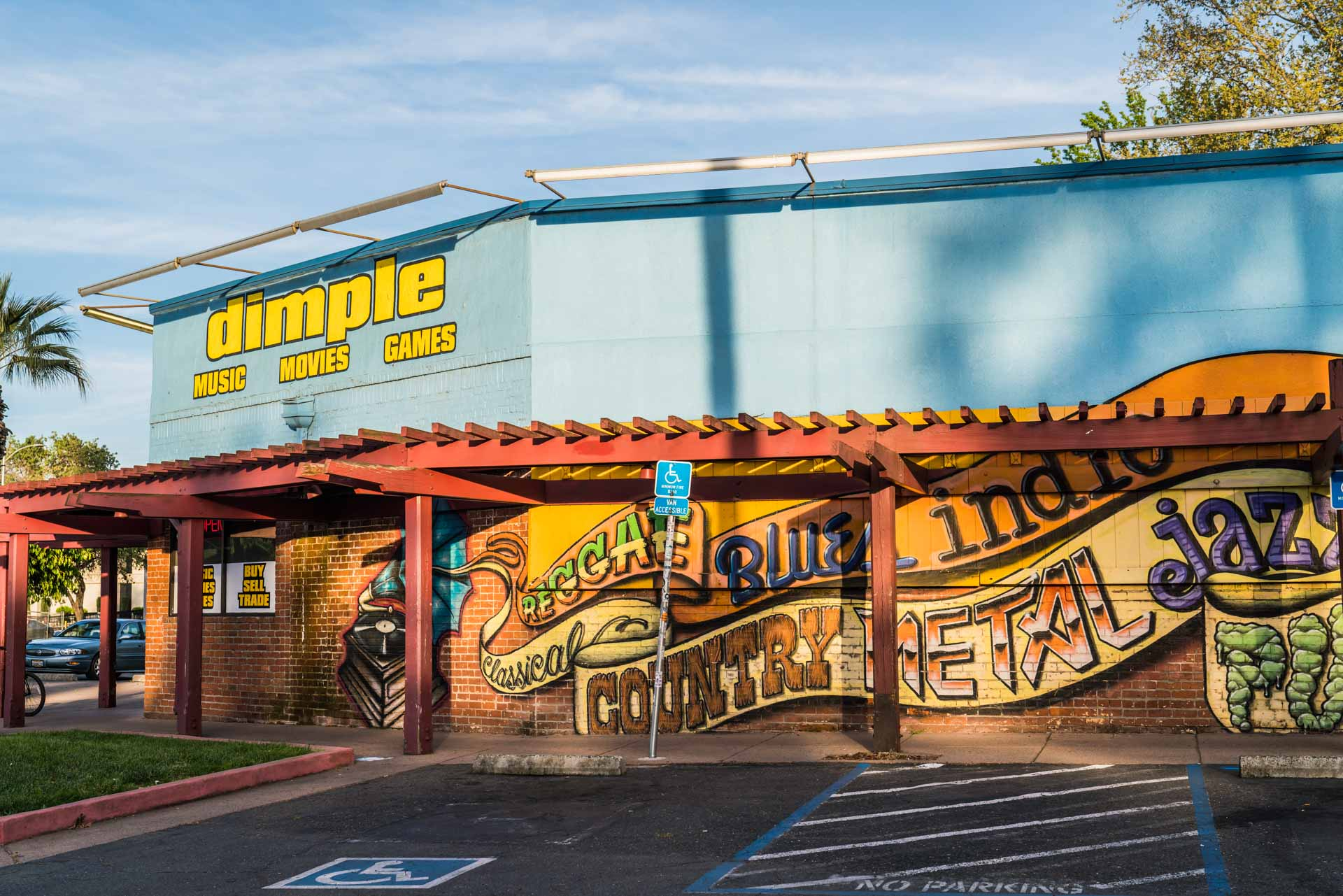 Exterior of Dimple Records in Sacramento, CA