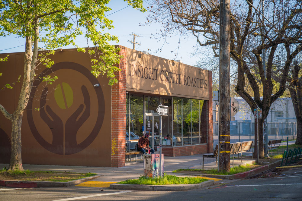 Exterior of Insight Coffee Roasters in Sacramento, CA