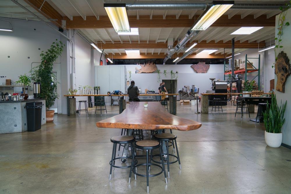 Interior of Identity Coffees in Sacramento California