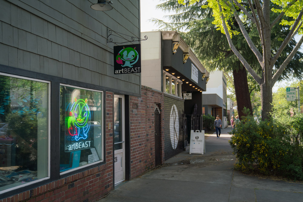 Exterior of Art Beast in Sacramento, CA