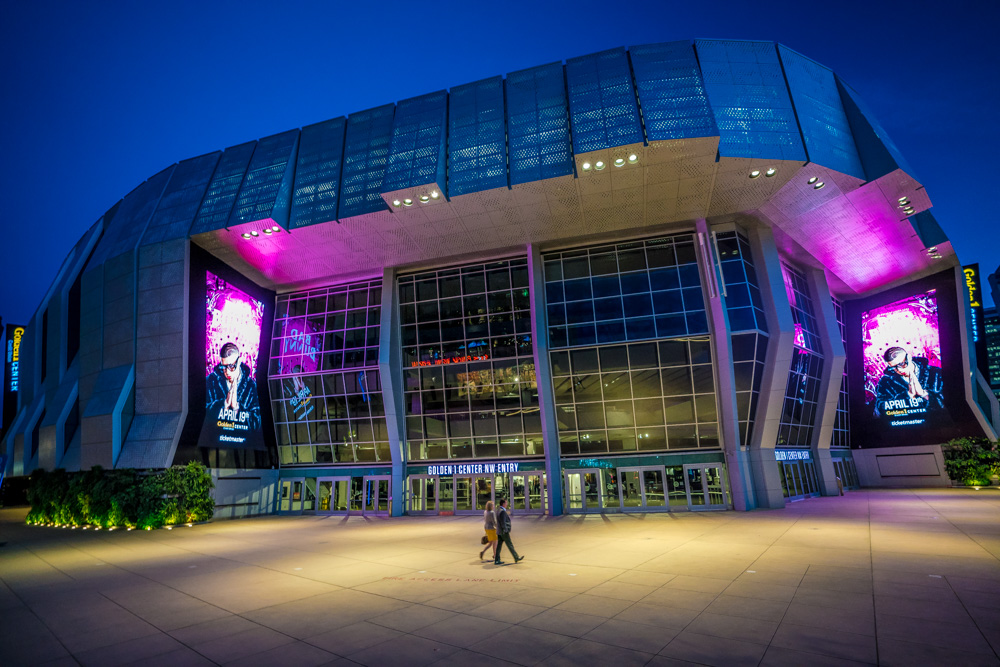Exterior of Golden 1 Center in Sacramento CA