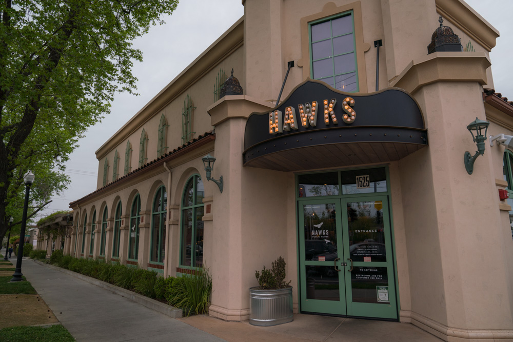Exterior of Hawks Provisions and Public House in Sacramento, California