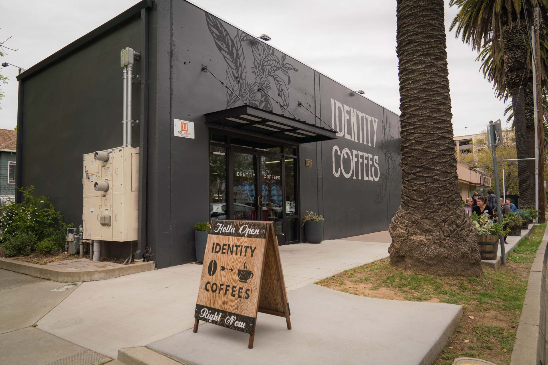 Exterior of Identity Coffees in Sacramento California