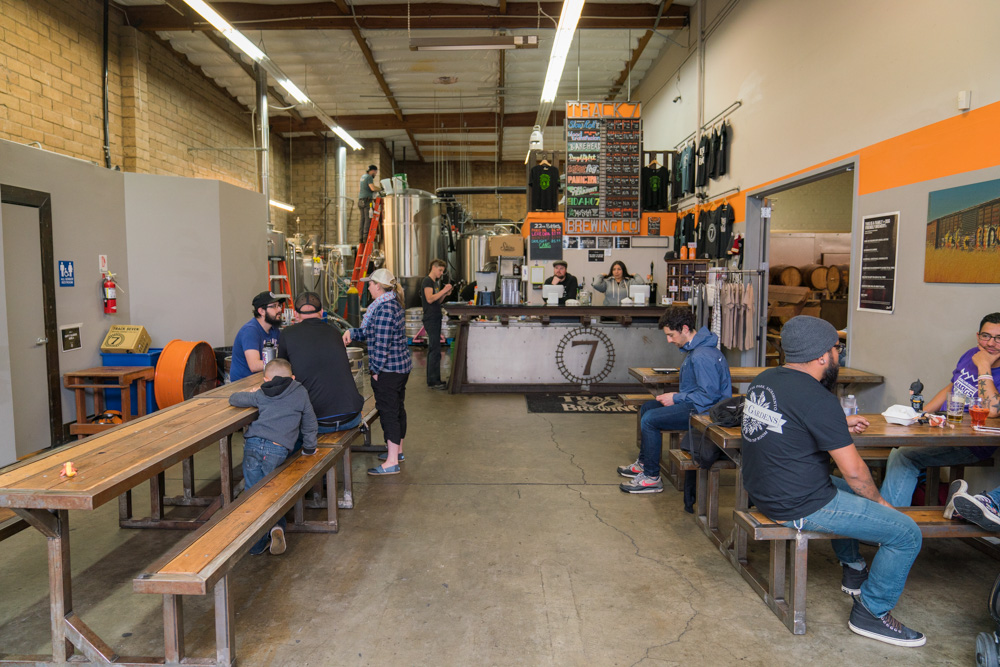 Interior of Track 7 Brewing in Sacramento, CA