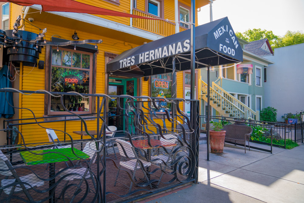 Exterior of Tres Hermanas Mexican Food in Sacramento, CA
