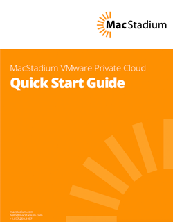 VMware Private Cloud Quick Start Guide