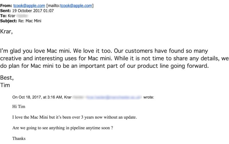 Tim Cook email