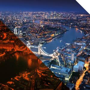 مدينة لندن أفق الليل