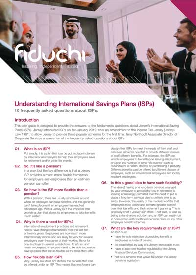 International Savings Plans (ISPs) Top 10 Frequently Asked Questions