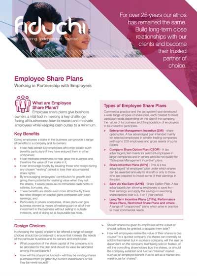 Fiduchi Employee Share Plans (International) Leaflet