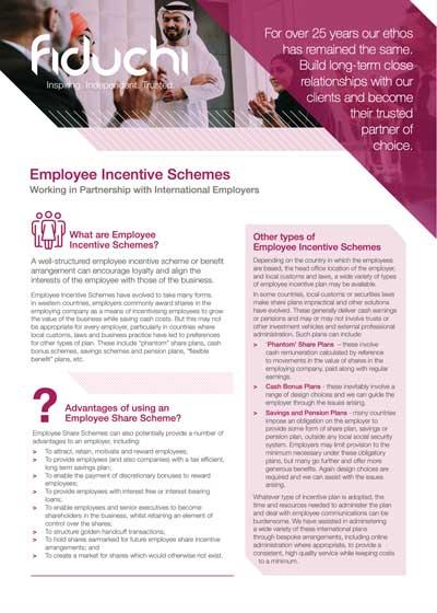 Fiduchi Employee Incentive Plans (International) Leaflet